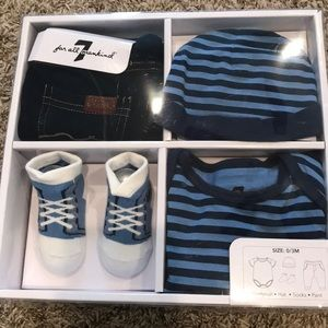 7 For All Mankind Baby Boy 4-piece Matching Set